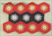 Соединение шестиугольников, связанных крючком